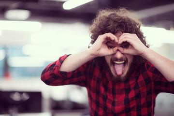 Portrait of smiling male software developer