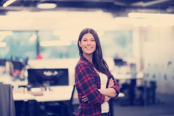 Portrait of  smiling female software developer