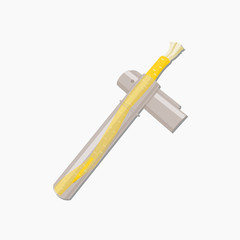 Editable Isolated on The White Background Miswak Organic Toothbrush in The Holder Vector Illustration