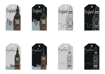 Gift tag set of Big Ben