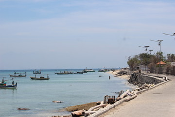 FISHING BOATS IN GILI KETAPANG PORT, PROBOLINGGO, EAST JAVA, INDONESIA