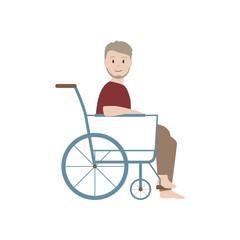 Opa im Rollstuhl