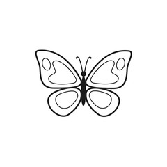Vector illustration of butterfly outline icon