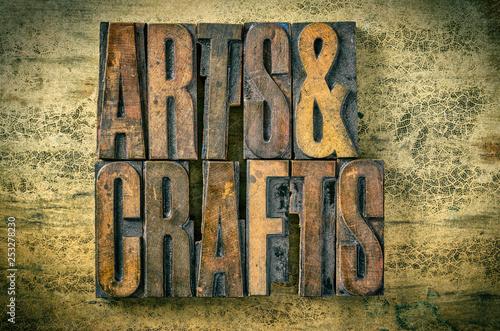 Antique letterpress wood type printing blocks - Arts and