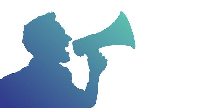 megafono, manifestazione, comunicazione, comunicare
