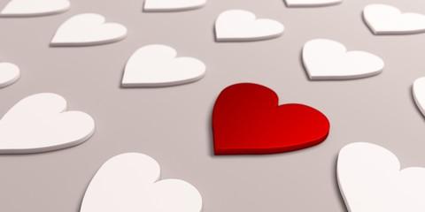 Most Important Heart Symbol. 3D Render Illustration