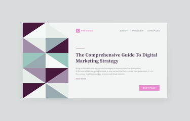 Abstract Website Presentation Layout