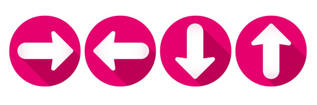 Arrow icons set. Flat design - Vector