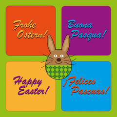 easter greetings in German, Italian, Spanish and English