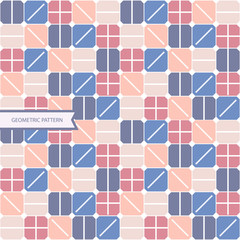 abstract background with squares, geometric shape seamless pattern, pastel colour modern design