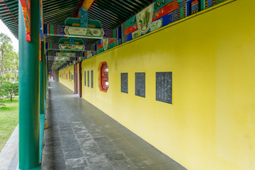 Chinese corridor in Confucius Temple in Suixi, Guangdong province