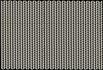 knitted wool illustration vector