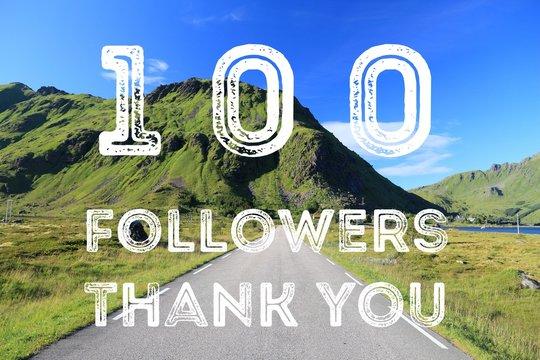 100 followers sign