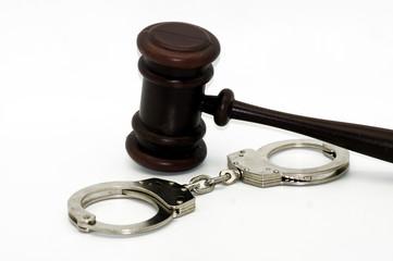 Handschellen ein Symbol für Kriminalität
