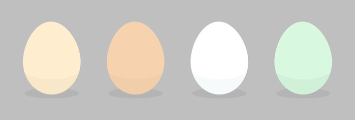 Different natural eggs icons.