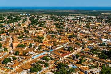 Aerial view of the city of Trinidad, Cuba
