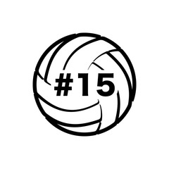 Volleyball with number
