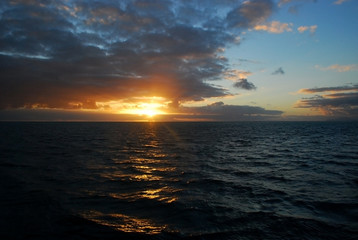 Sunset in the Pacific Ocean