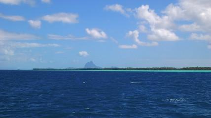 View of Bora Bora from Raiatea Islands, French Polynesia