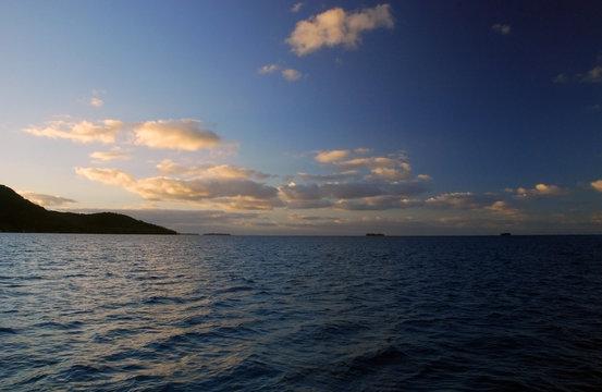 Sunset in Raiatea, French Polynesia
