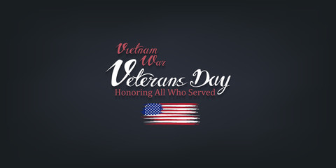 vietnam war veterans day, March 29, honoring all who served, posters, modern brush design vector illustration