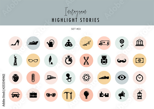 Instagram Highlights Stories Covers Icons collection  Fully
