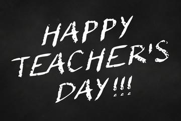 happy teacher's day written on a chalkboard