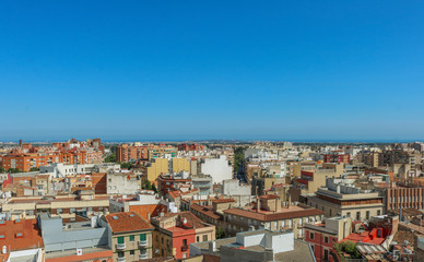 Cityscape of Reus, taken from the Prioral de Sant Pere. Shoot in June 2018