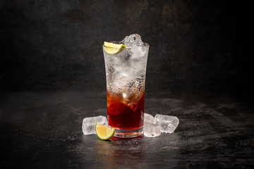 Soda drink with berry syrup