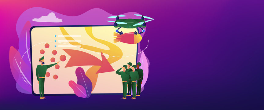 Military operation concept banner header.
