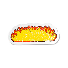 retro distressed sticker of a cartoon fire border