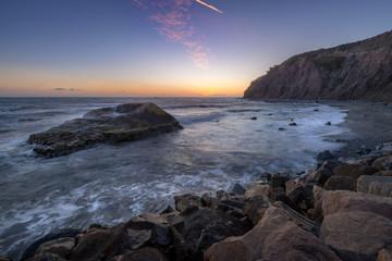 Tall Cliffs of Dana Point After Sunset