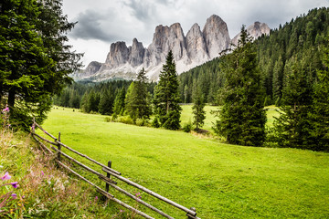 Geisler (Odle) Dolomites Peaks-Val Di Funes, Italy