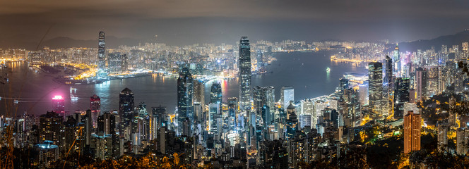 Fototapete - Honk Kong, November 2018 - Victoria Peak - beautiful panorama