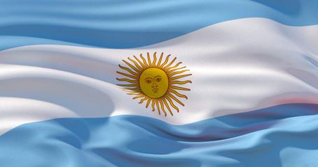 Argentina flag patriotic background, 3d illustration Wall mural