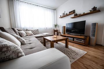 Beautiful living room in modern flat