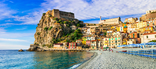 Travel in Calabria, Scilla medieval town with great beach. South of Italy Wall mural