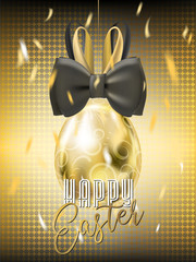 Easter Gala Golden Egg with Bunny Bow