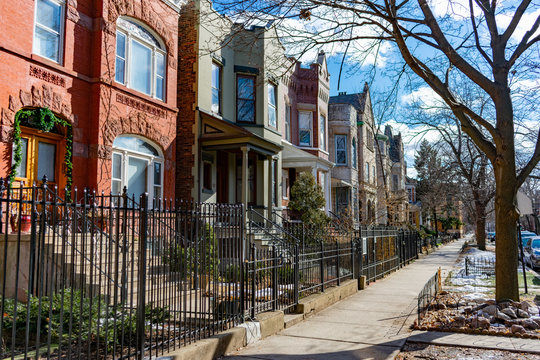 Row of Homes in Wicker Park Chicago