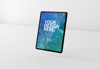 Floating Tablet Mockup