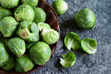 organic brussels sprouts for healthy food