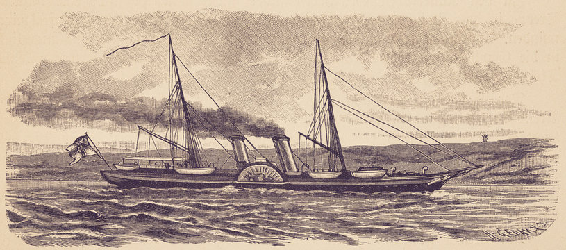 The imperial yacht 'Hohenzollern'. - Illustration, Germany, 1880-1889, 19th Century, 19th Century Style, Adventure