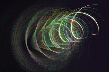 Abstract Background Colorful Helix