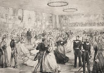 A ball in Reykjavik. - Illustration, Iceland, Reykjavik, 1870-1879, 19th Century - 253379451