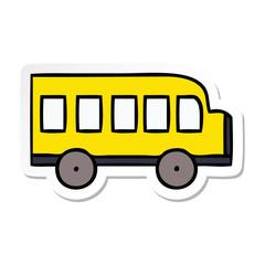 sticker of a cute cartoon school bus