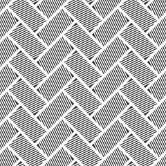 Abstract seamless pattern. Striped rectangles.