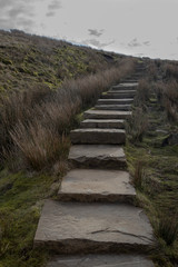 stone steps Penyghent Yorkshire dales