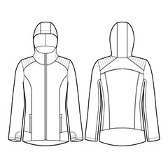 Ladies Workout Jacket Vector Template