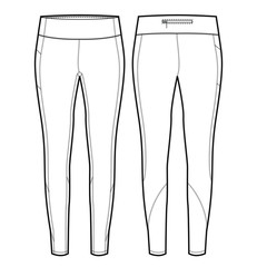 Ladies Full Length Legging Vector Template