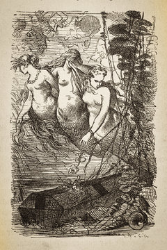 The cool seaman's grave - Illustration, Germany, 1880-1889, 19th Century, 19th Century Style, Ancient